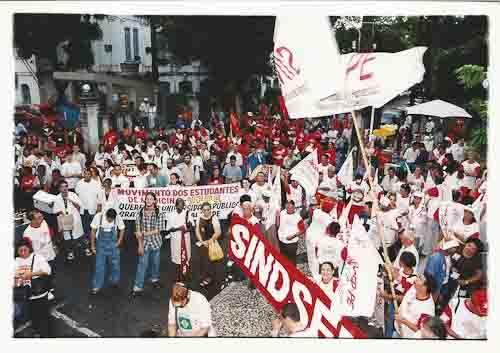 Ato dos servidores federais 18 de maio/ 2000 foto: Ivaldo Bezerra