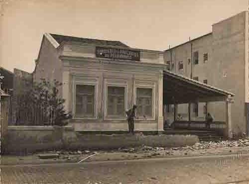 Sede do Sindicato dos Bancários de Pernambuco(Início das obras de alargamento da Avenida Conde da Boa Vista) – Abril/1954