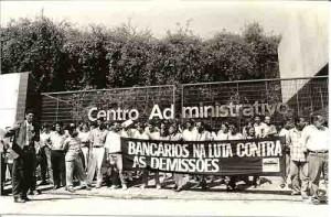 Ato de protesto contra as demissões no Banorte 28/05/96